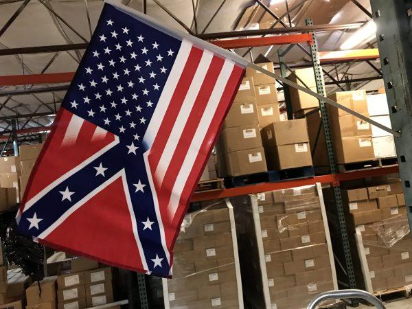 """12"""" x 18"""" Half And Half Stick Flag"""