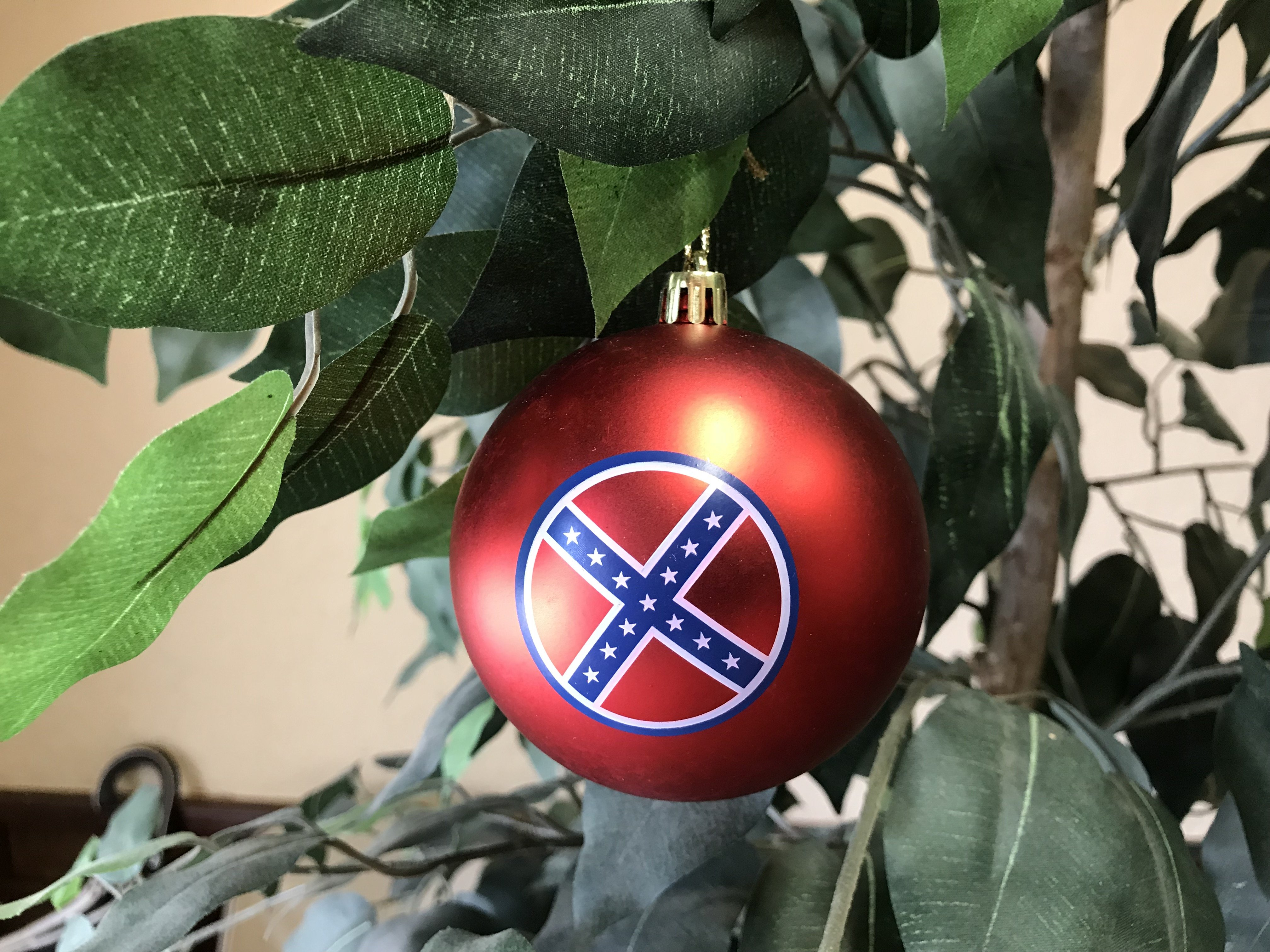 6 Pack Confederate Flag Christmas Ornaments