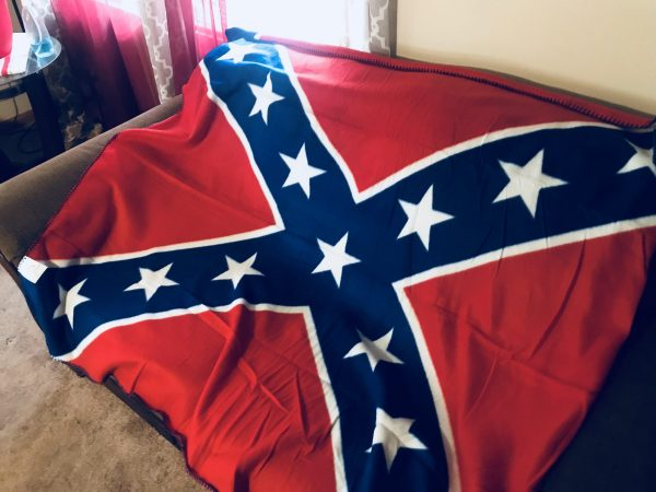 Confederate Polar Fleece Throw Blanket