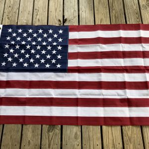 Heavy Duty Nylon Embroidered American Flags