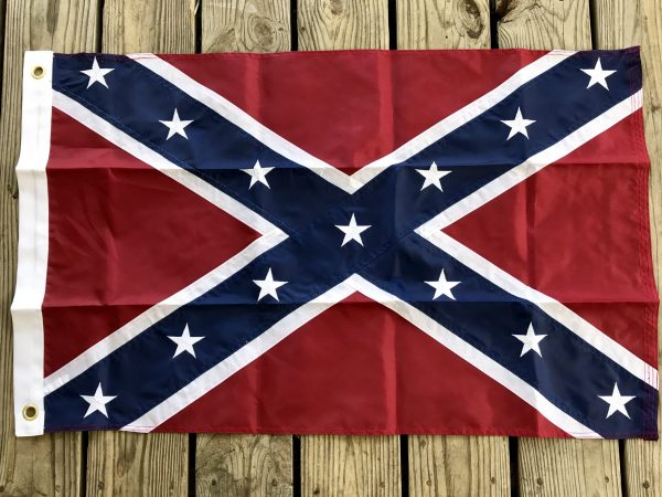 Heavy Duty Nylon Embroidered Rebel Flag (7 Different Sizes)