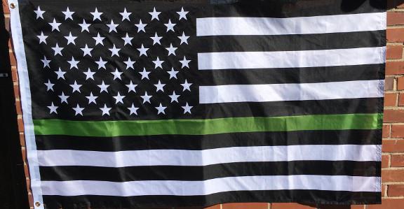 Military Green Line Flag