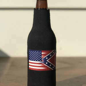 Half and Half Flag Bottle Koozie