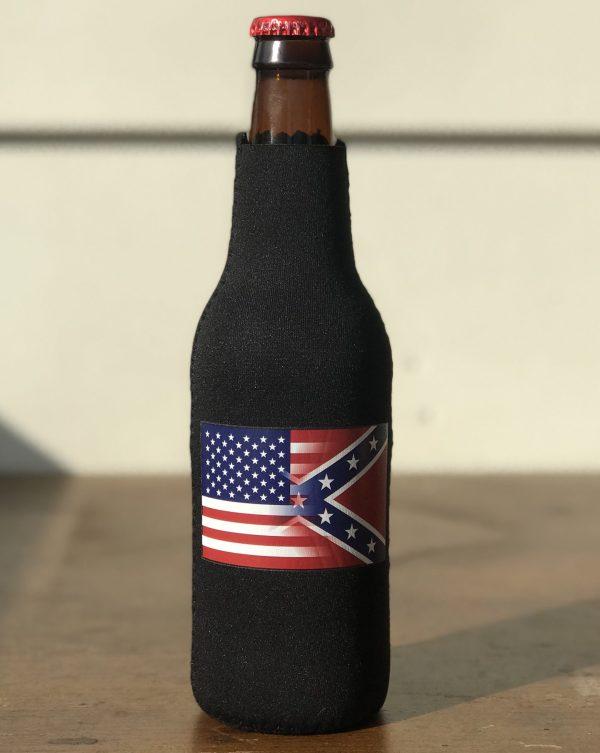 Half and Half Flag Bottle Koozie