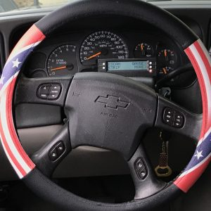 Half Rebel Half American Flag Steering Wheel Cover