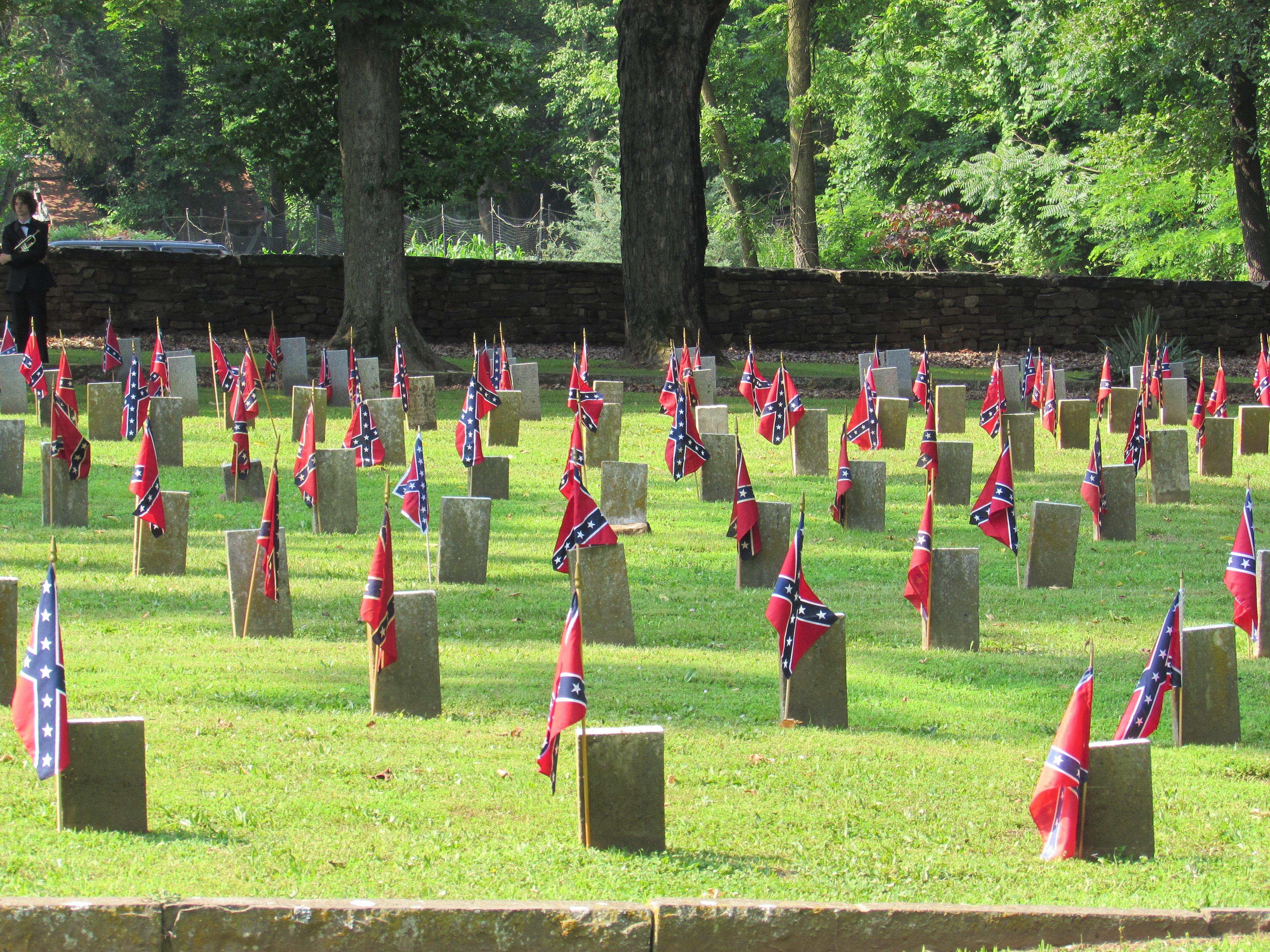 """12"""" x 18"""" Confederate Stick Battle Flag"""