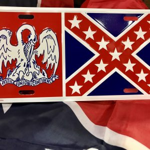 Louisiana Rebel License Plate