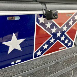 Texas Battle Flag License Plate