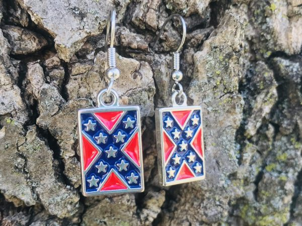 Confederate Flag Earrings
