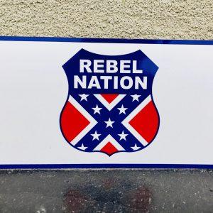 Rebel Nation Badge Of Honor Bumper Sticker