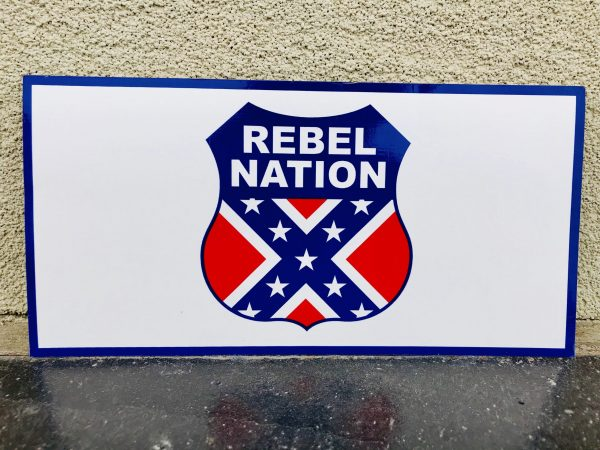 Rebel Nation Badge Of Honor Bumper Sticker