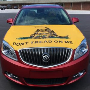 Don't Tread On Me Hood Cover