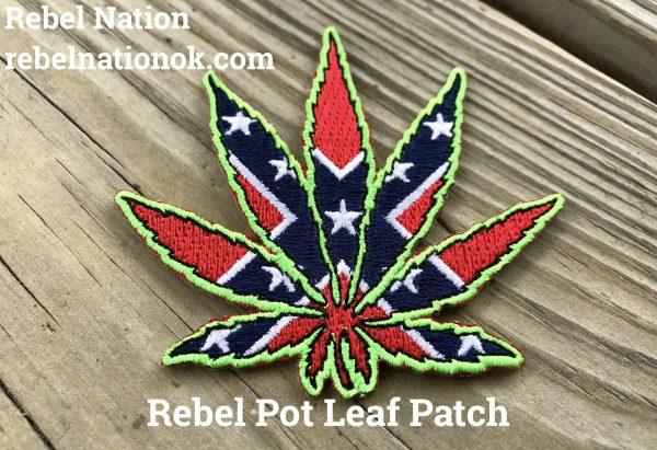 Rebel Pot Leaf Patch