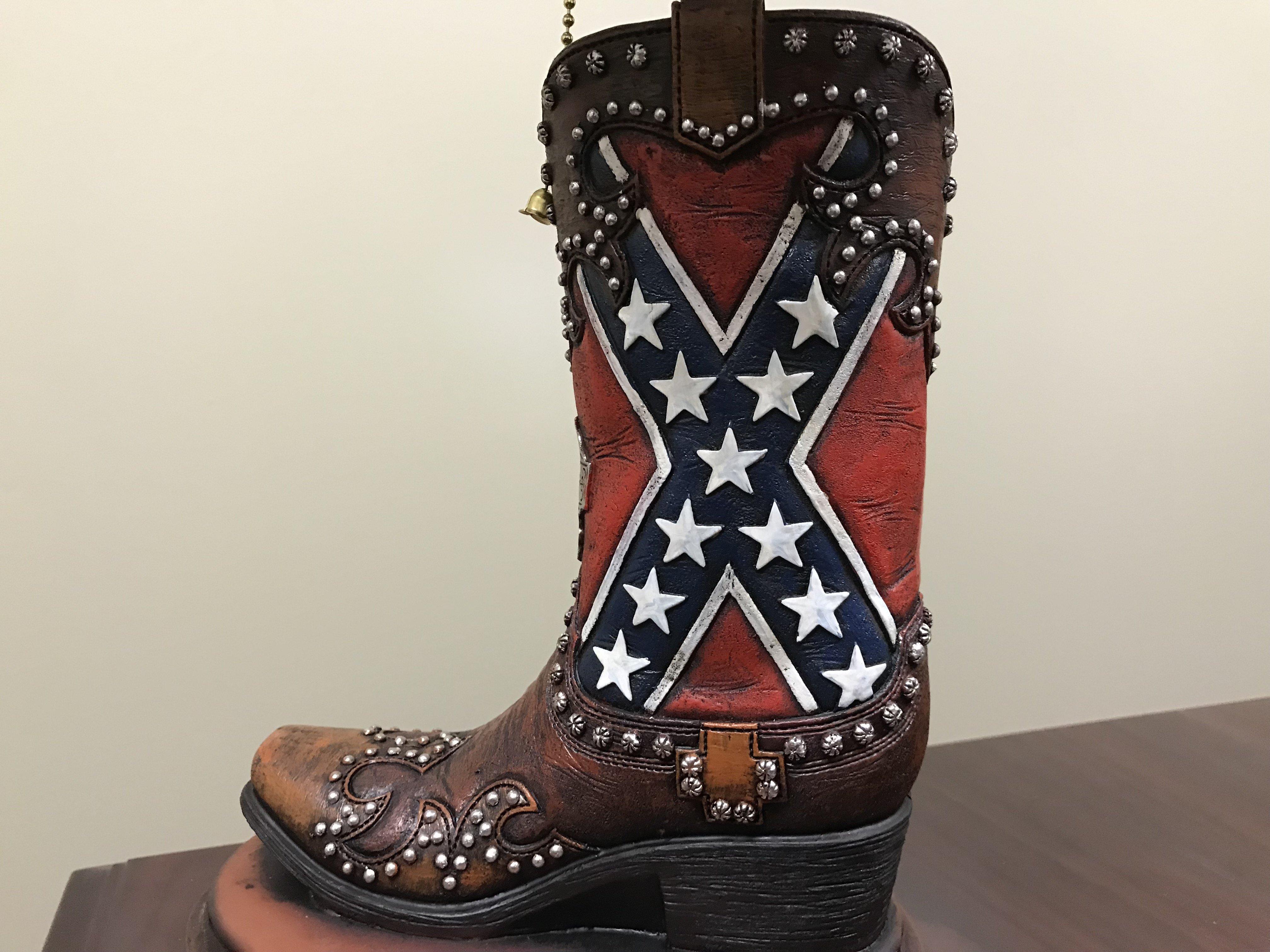 Confederate Flag Boot Lamp