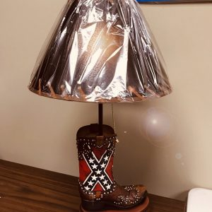 Confederate Flag Boot Lamp
