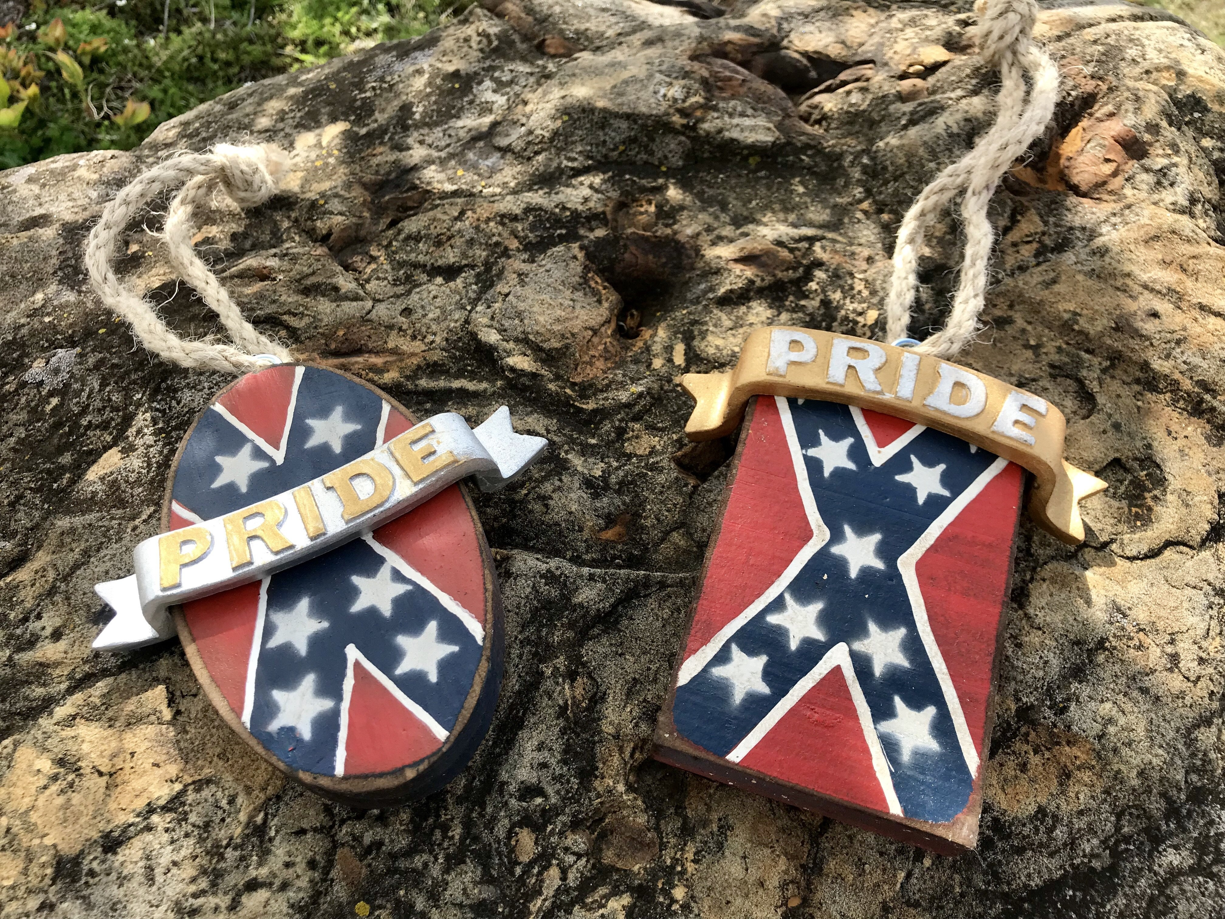 Rebel Pride Wooden Ornaments 2pk