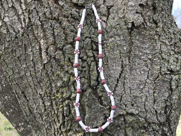 White Rebel Flower Necklace