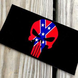 Rebel Punisher Skull Sticker
