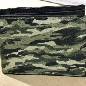 Camouflage Bi-fold Leather Wallet