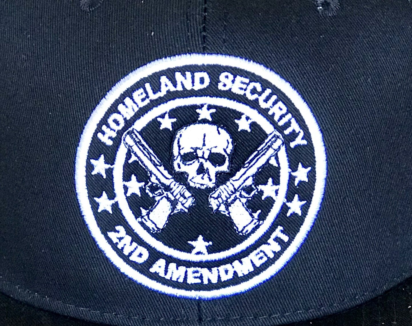 Black Homeland Security SnapBack Hat