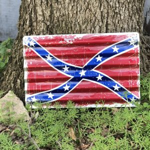 Confederate Corrugated Metal Sign