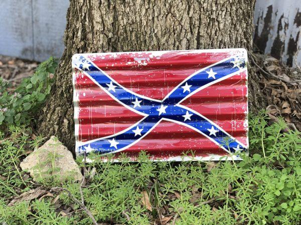 Confederate Corrugated Metal Sign