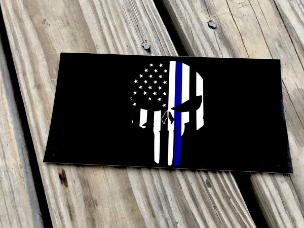 Police Punisher Skull Sticker