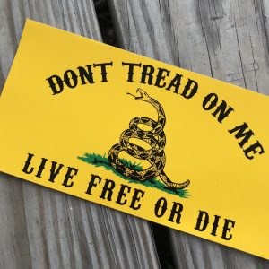 Don't Tread On Me Live Free Or Die Sticker