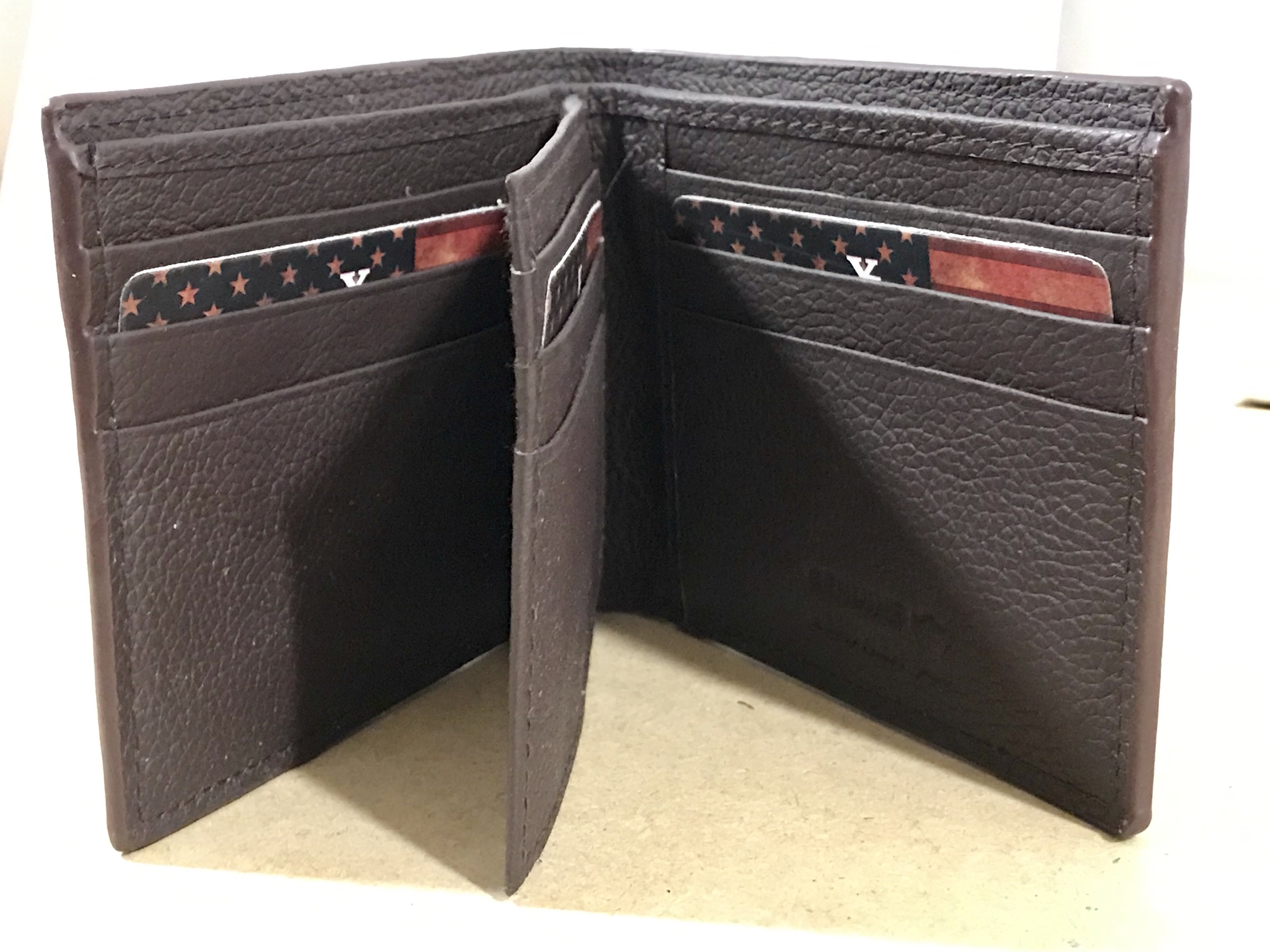 Rebel Skull Bi-fold Leather Wallet