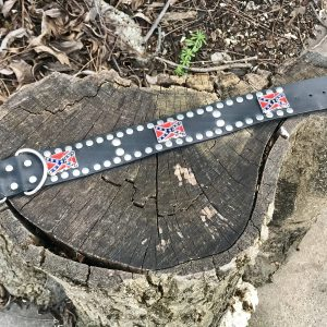 Rebel Leather Studded Dog Collar