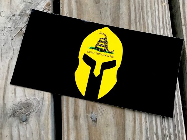 Don't Tread On Me Spartan Helmet Sticker