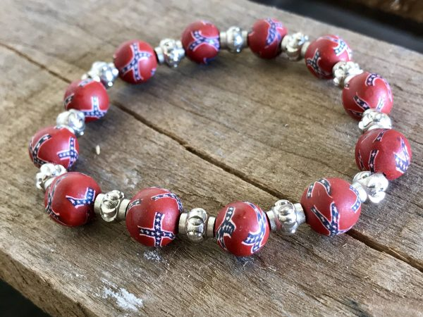 Rebel Flag Bracelet