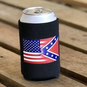 Half and Half Flag Can Koozie