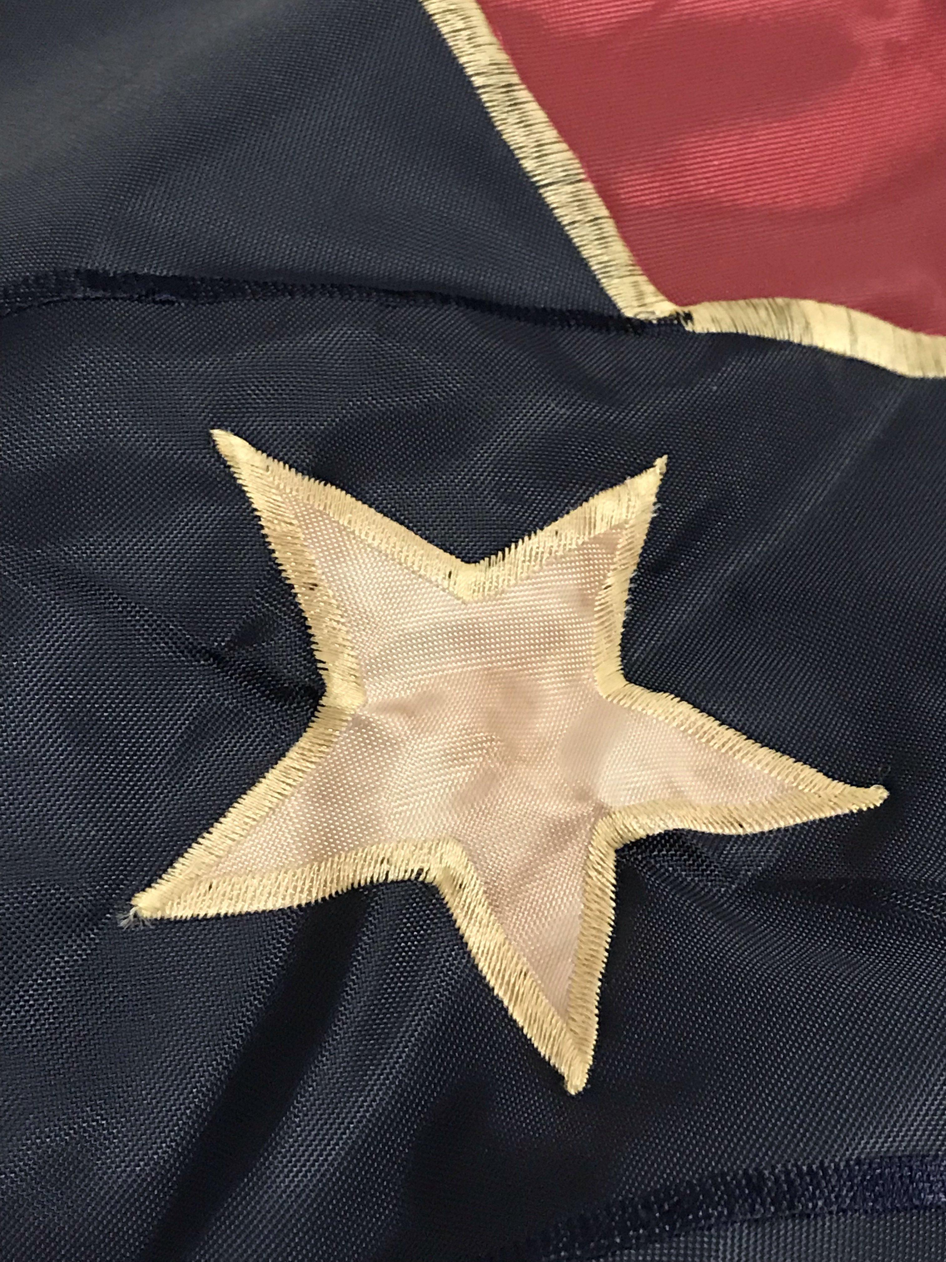 Vintage Sewn Nylon 3x5 Battle Flag
