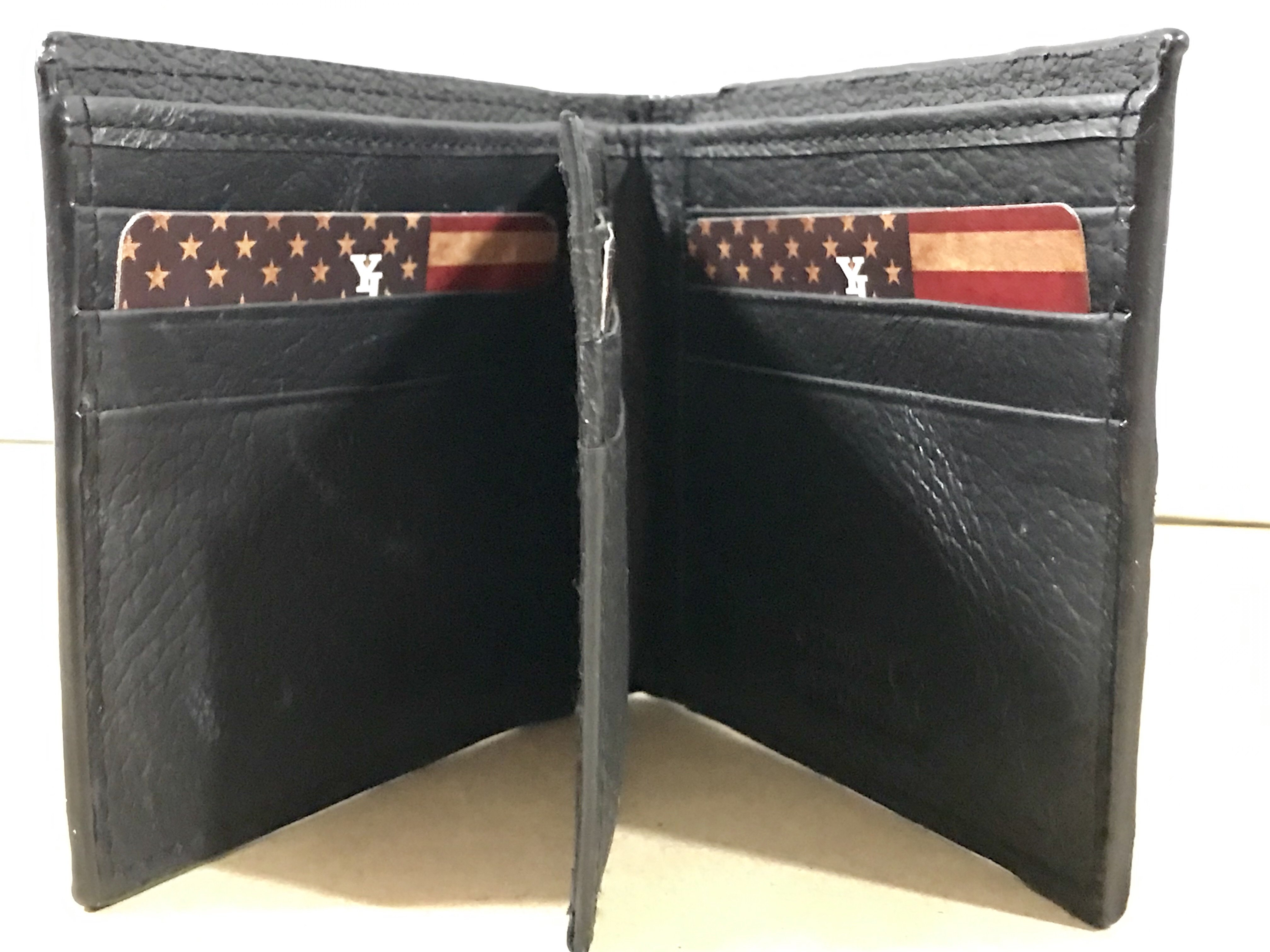 Vintage American Eagle Bi-fold Leather Wallet