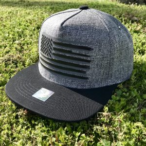 Charcoal USA Flag SnapBack Hat