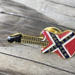 Confederate Battle Flag Guitar Pin