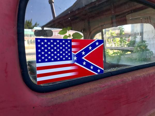Half and Half Flag Sticker
