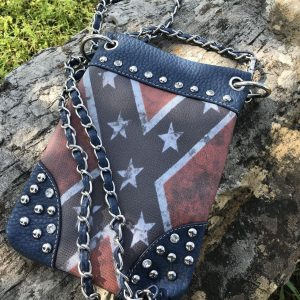 Rebel Flag Hipster/Cell Phone Bag (Blue)