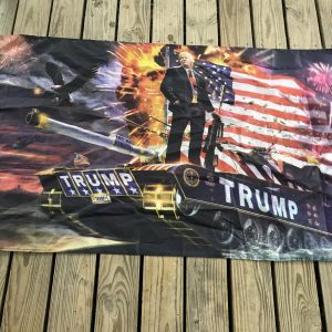 Donald Trump Tank Flag