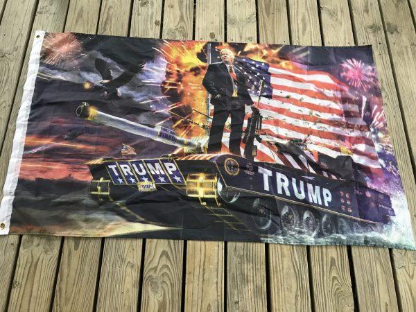 Donald Trump Tank Flag