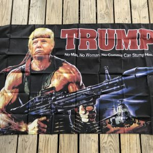 Donald Trump Rambo Flag