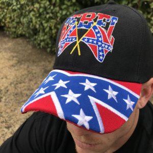 Rebel Crossed Flags Cap