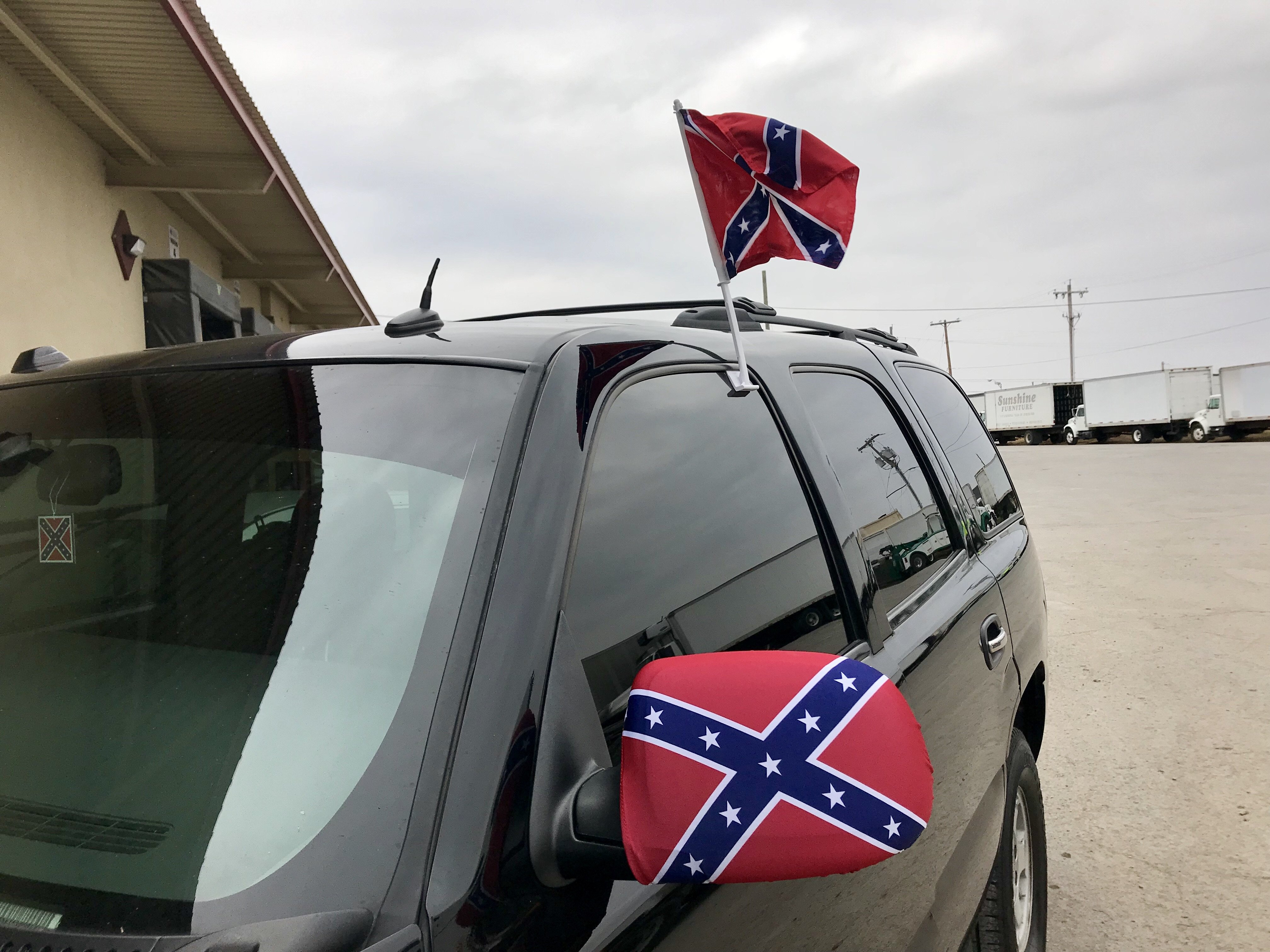 Rebel Flag Side Mirror Covers
