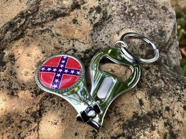 3-N-1 Confederate Keychain