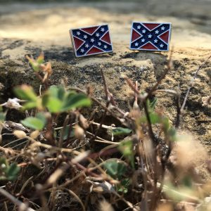Rebel Flag Stud Earrings