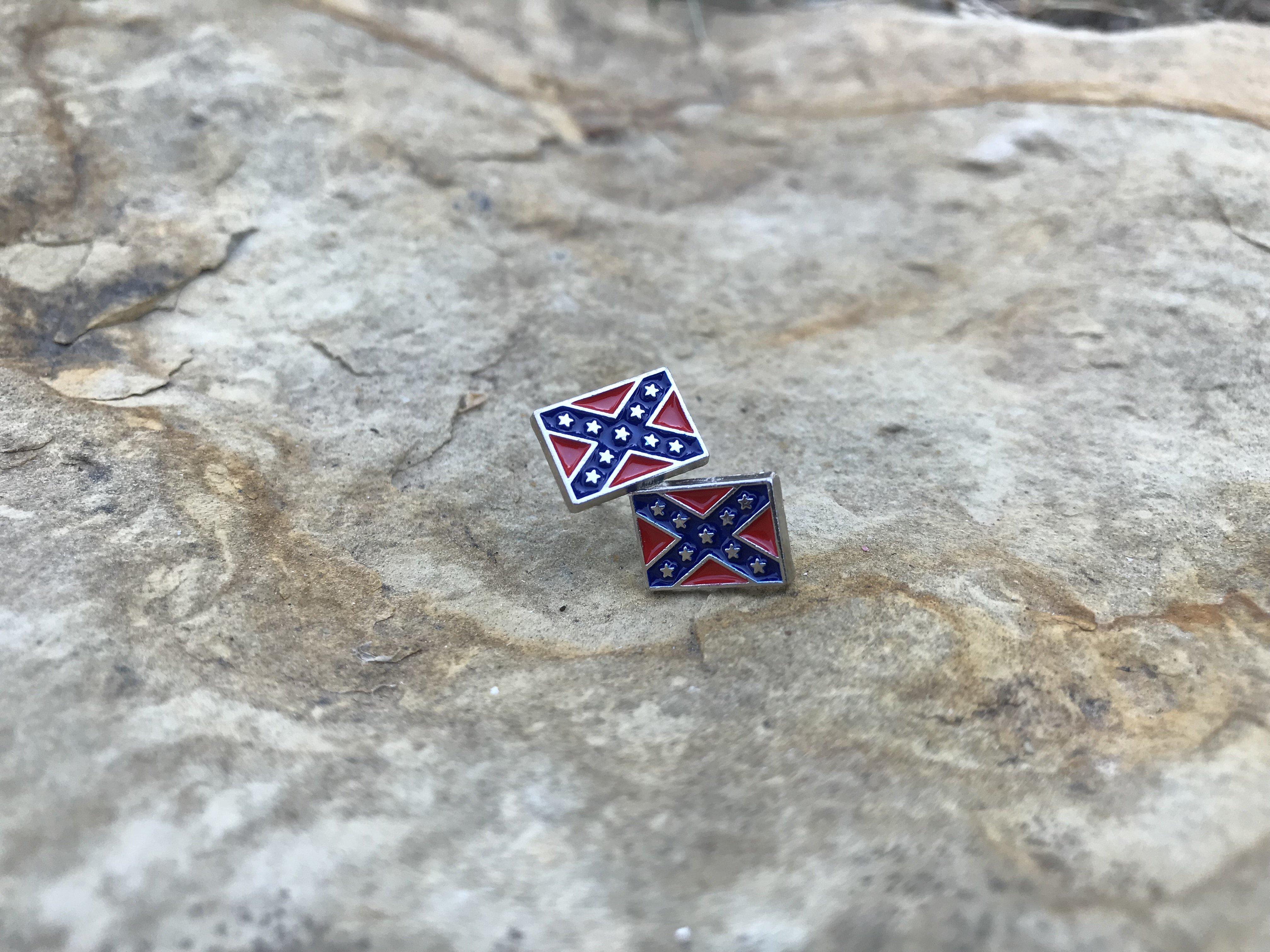 Rebel Flag Stud Earrings