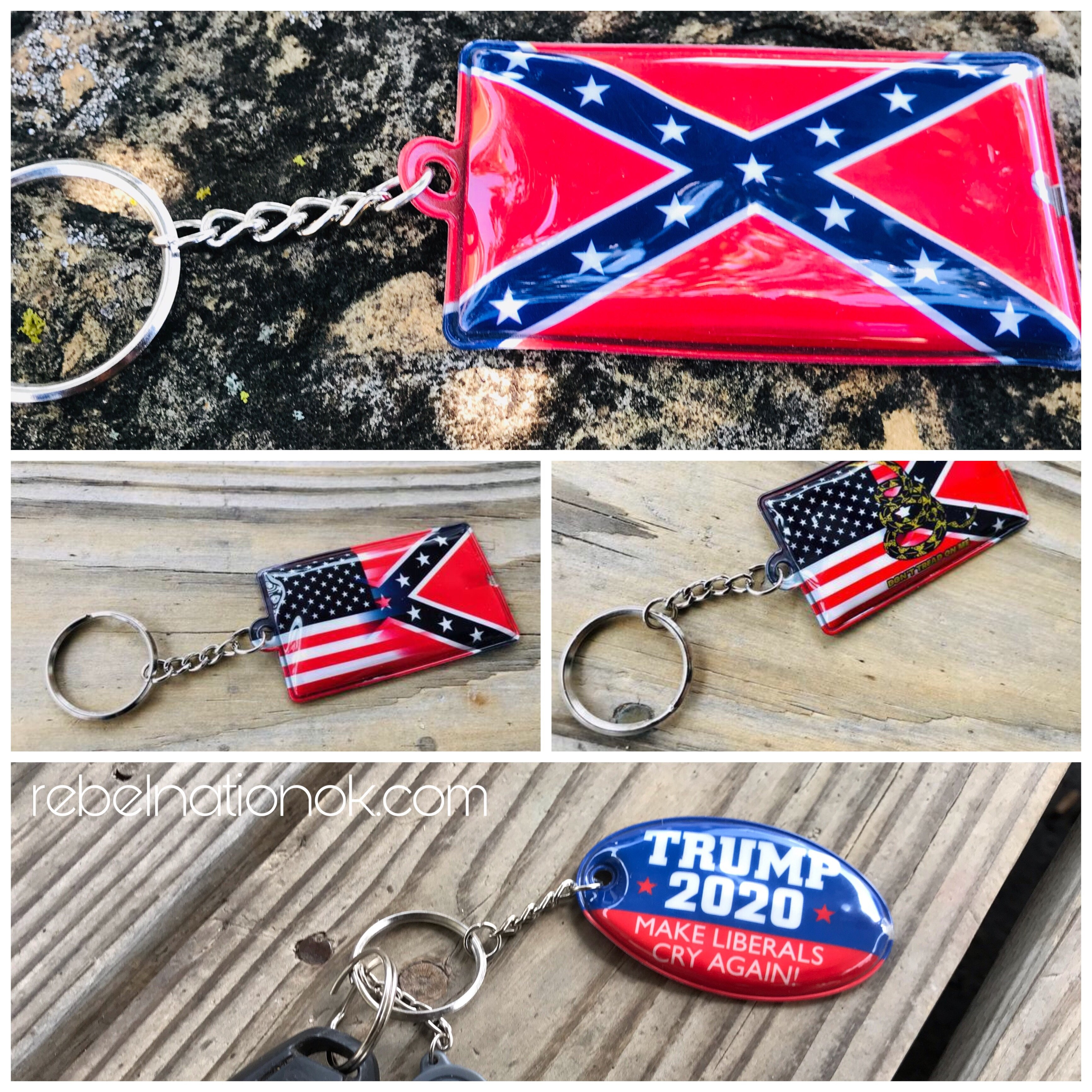 Confederate LED Squeeze Light Keychain