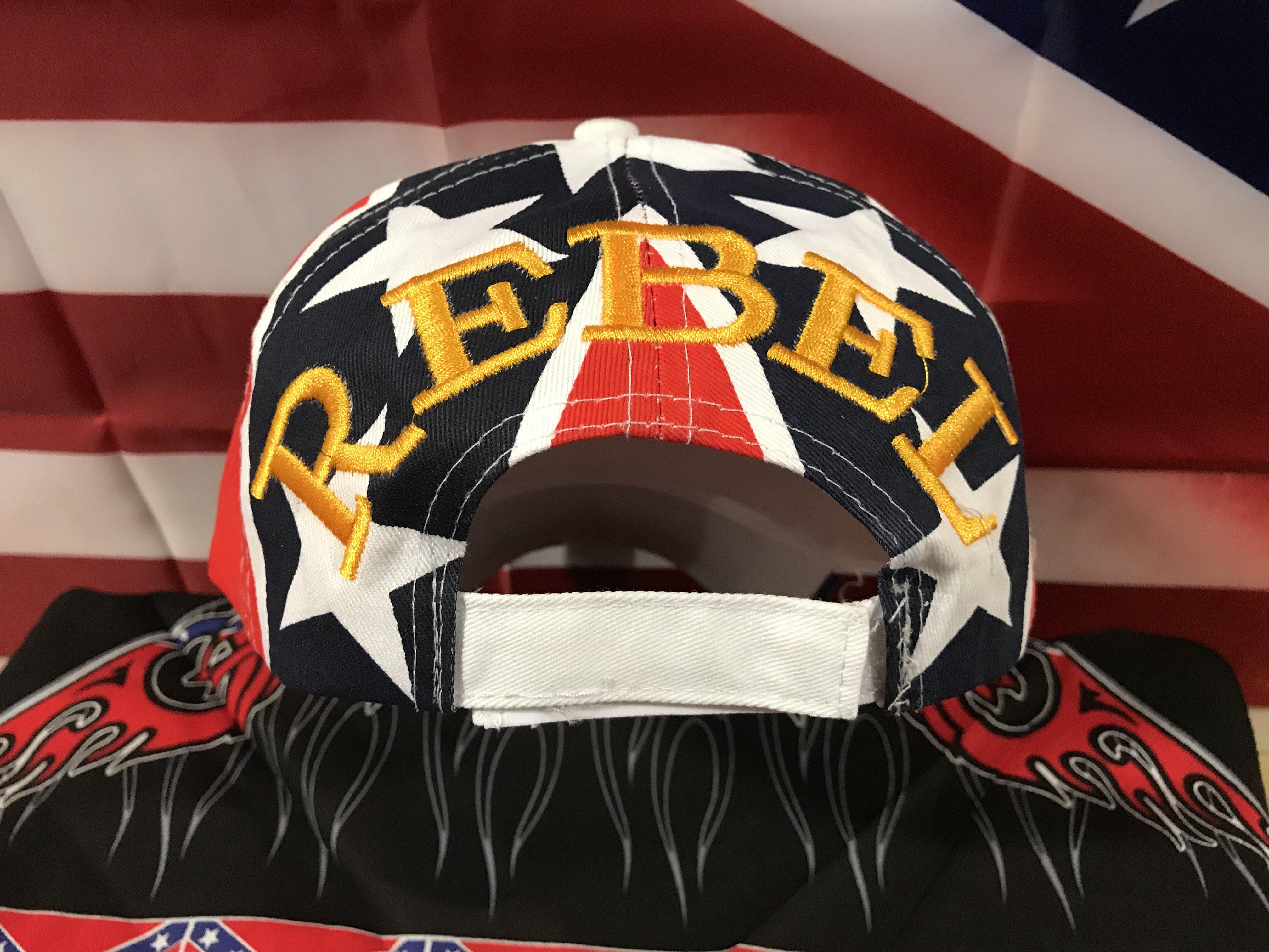 Big Rebel Flag Cap