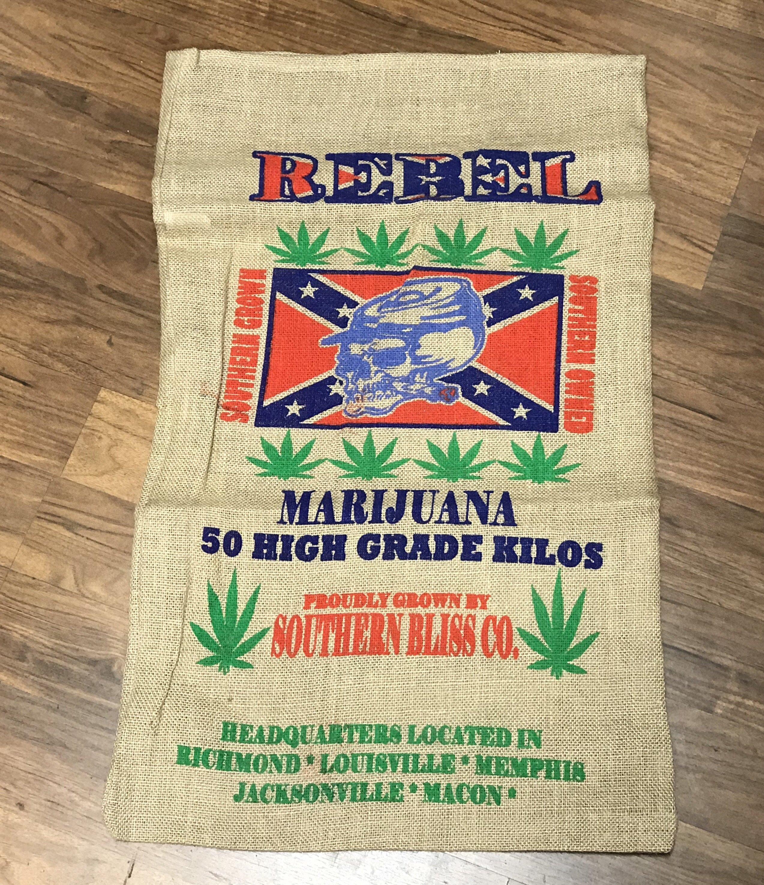 Rebel Flag Potato Sack